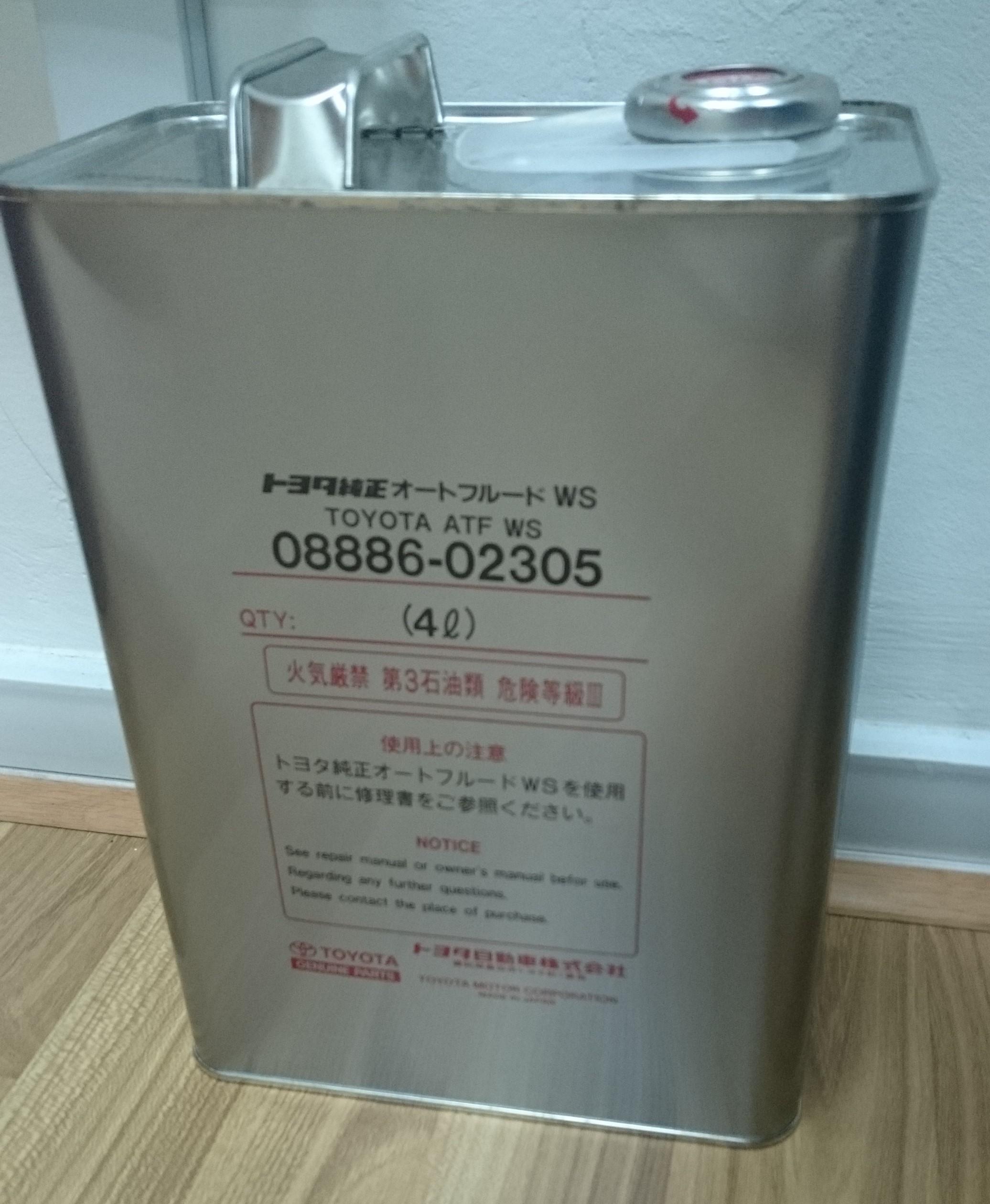 Toyota Atf Ws Fluid 4l Pack 08886 02305 Kkb